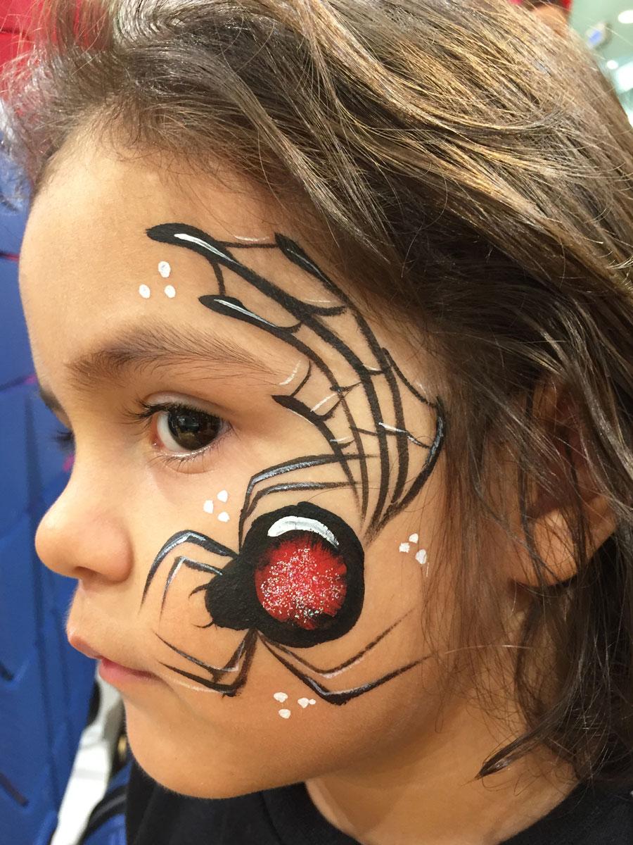 Maquillage fille professionnel araignée