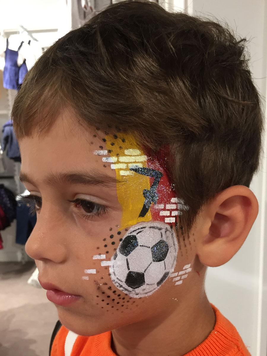 Maquillage garçon professionnel foot