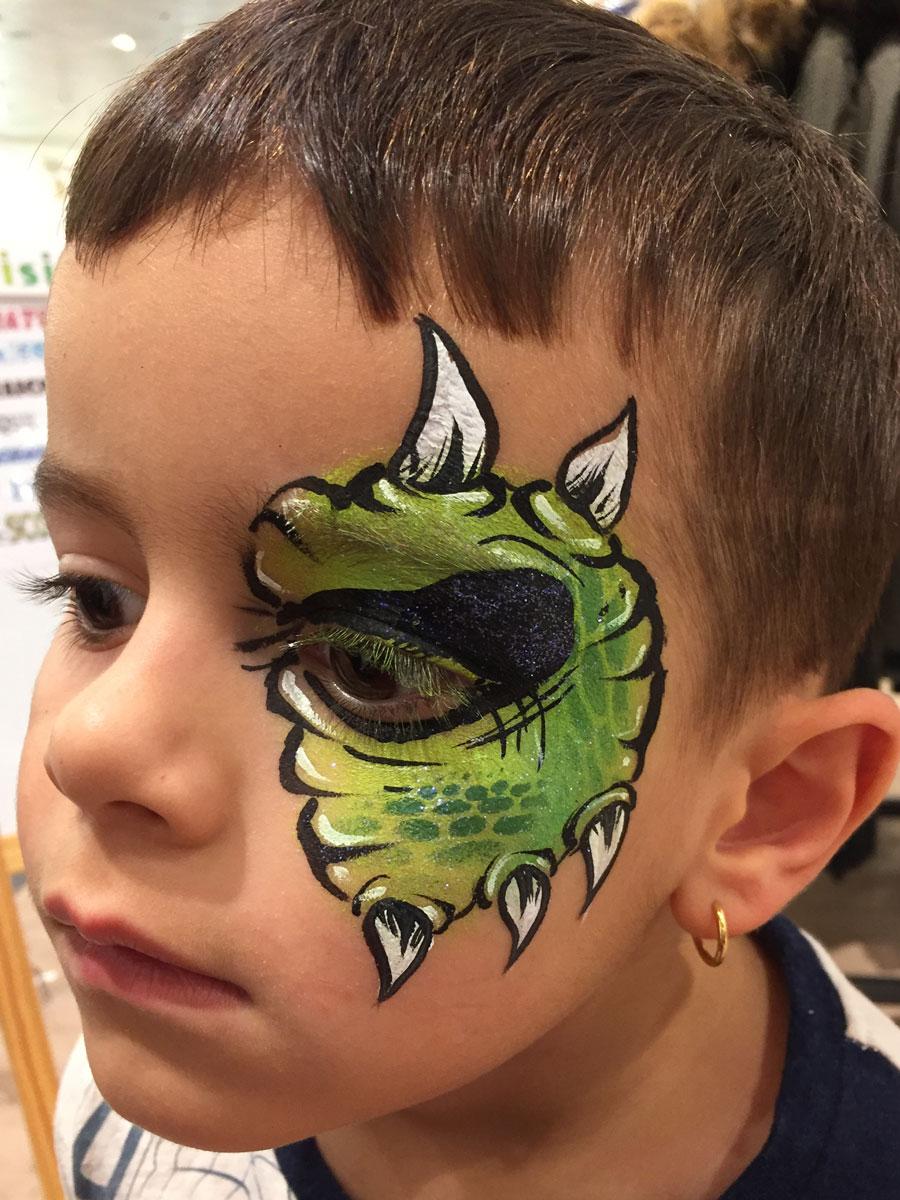 Maquillage garçon professionnel dragon