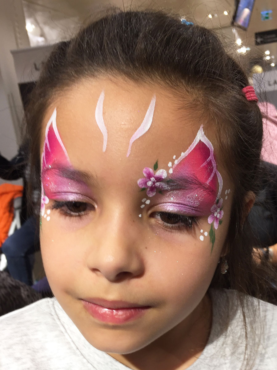 Maquillage fille professionnel papillon