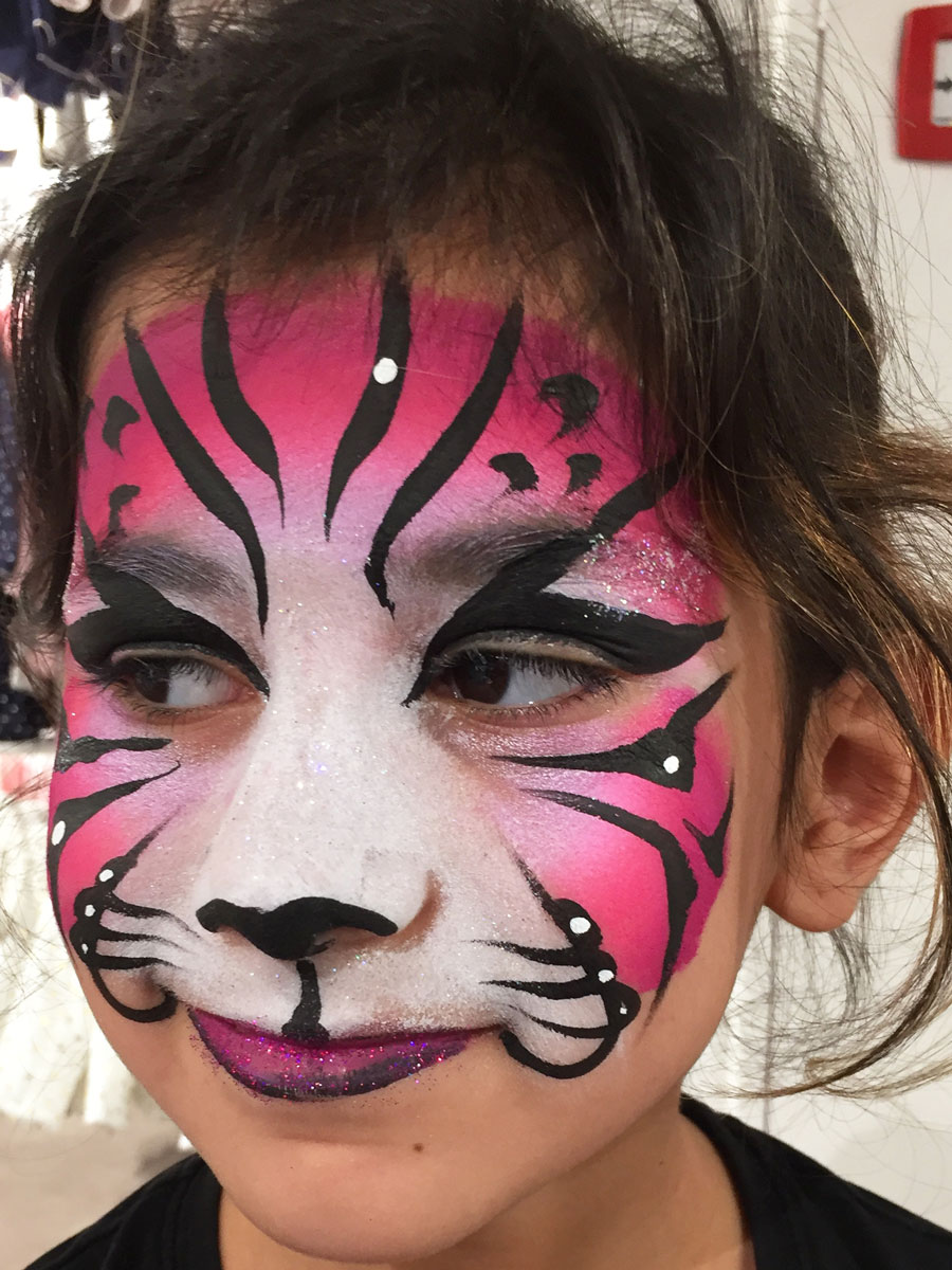 Maquillage fille professionnel tigre