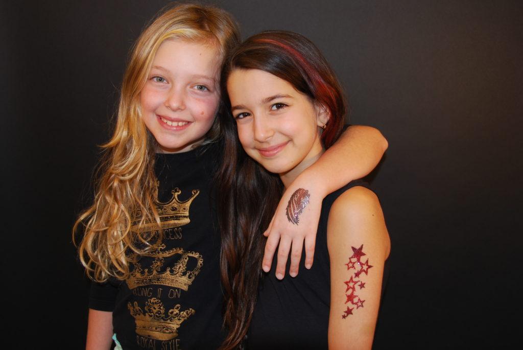 Tatouage temporaire enfants à paillettes