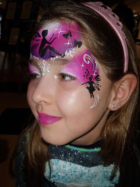 Maquillage fille professionnel fée rose papillon