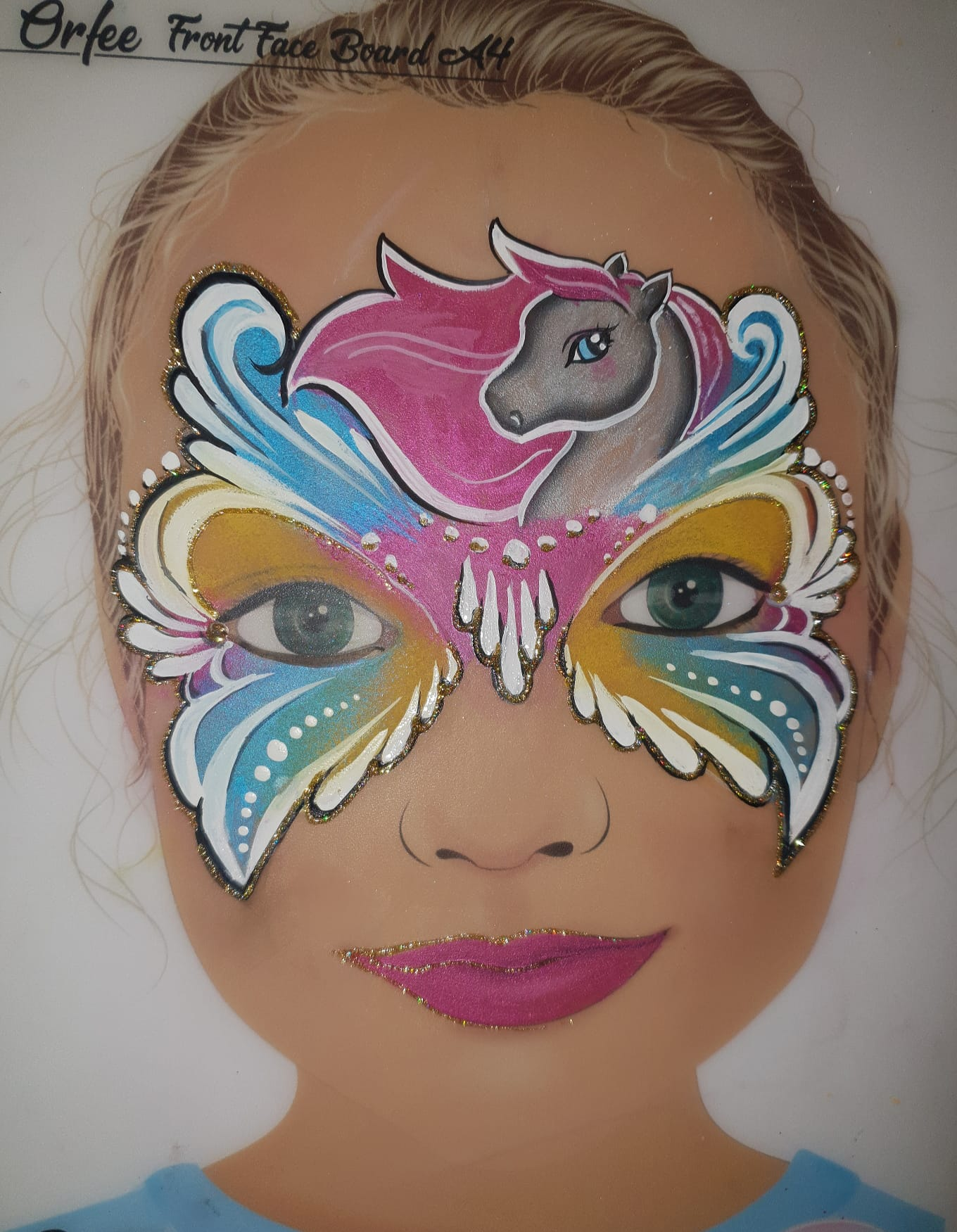 Maquillage fille professionnel cheval masque
