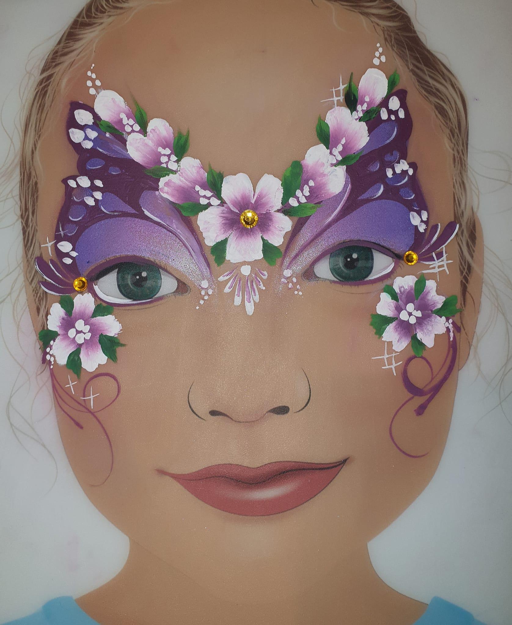 Maquillage fille professionnel fleur