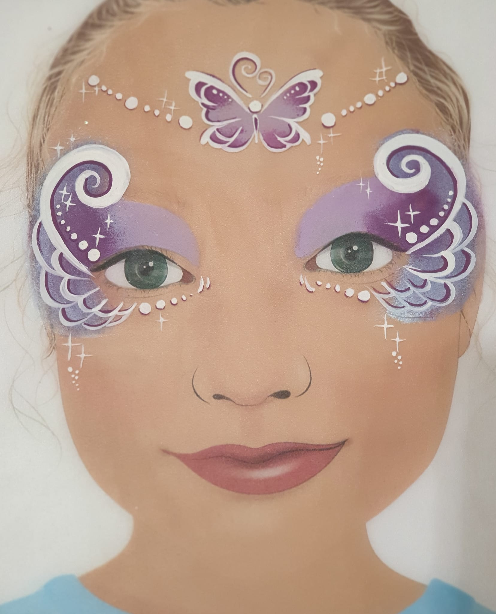 Maquillage fille professionnel papillon lilac