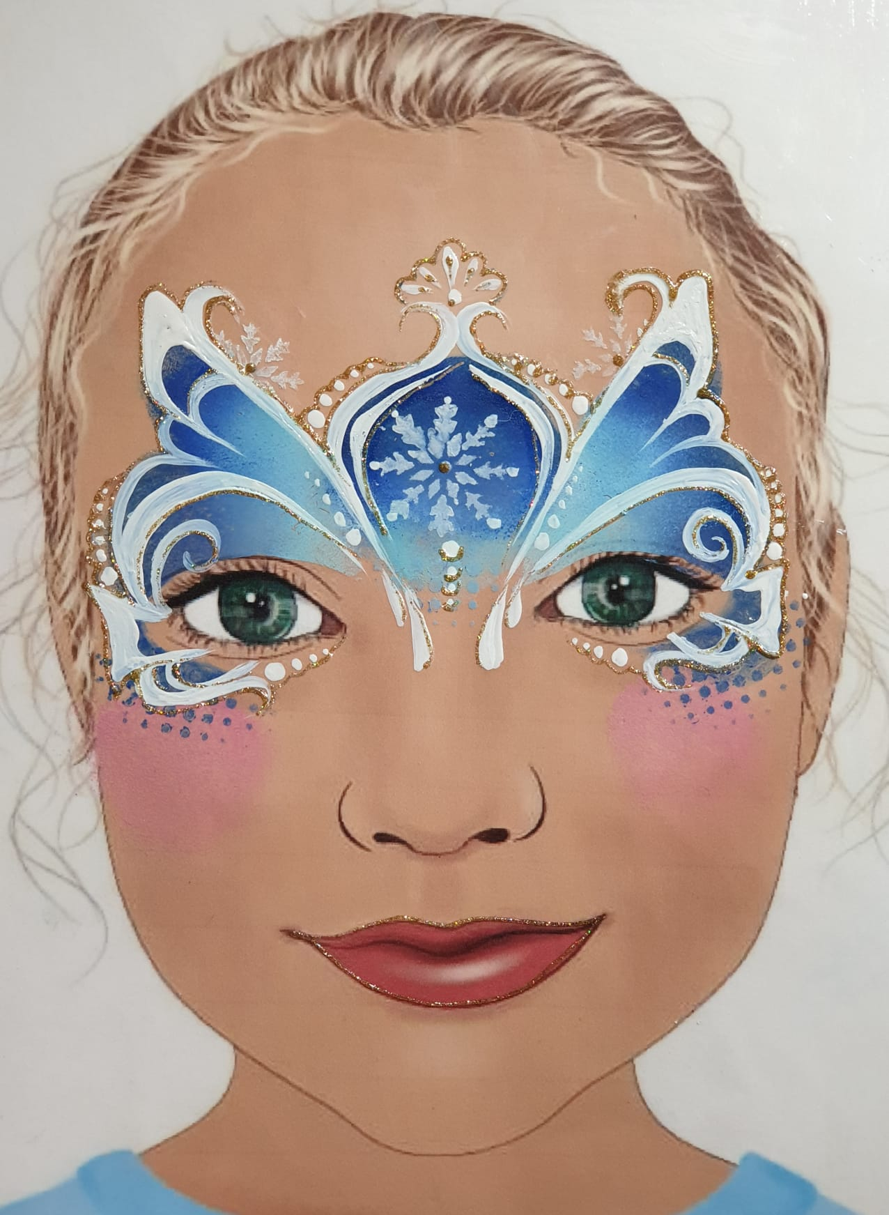 Maquillage fille professionnel fée reine de neige